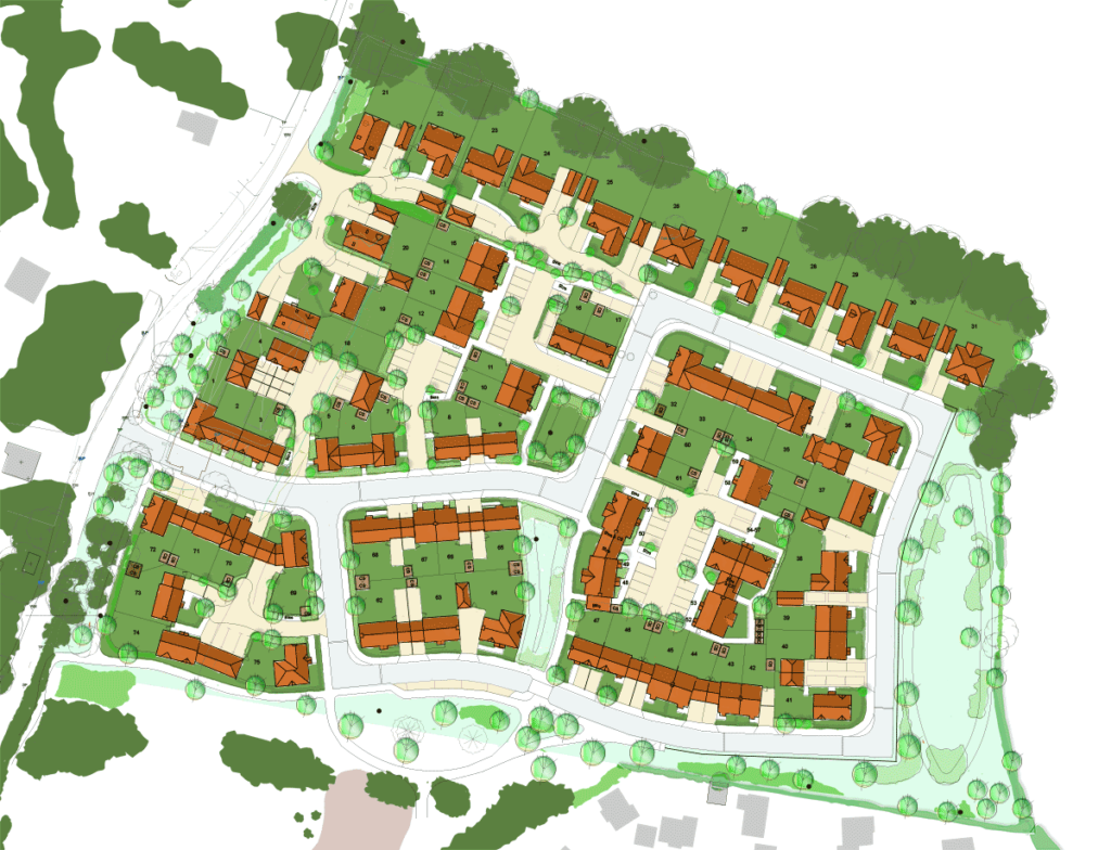 Coley Farm site plan