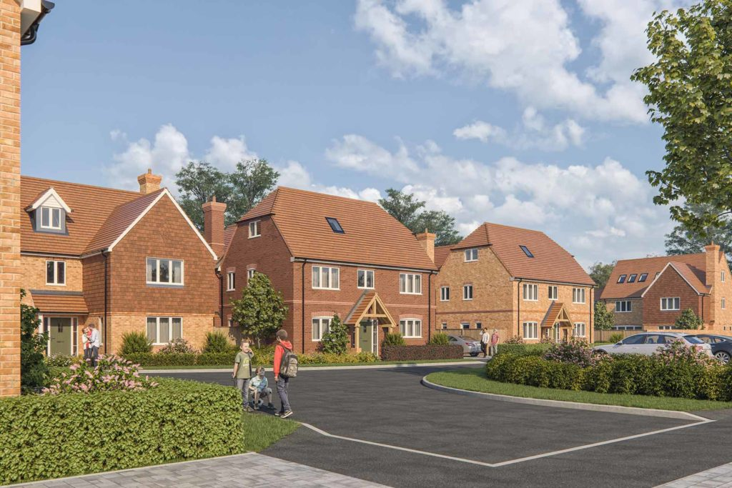 Kiln Gardens homes street view in Kintbury