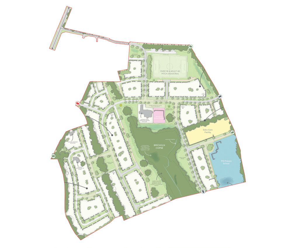 Sandleford Park site plan