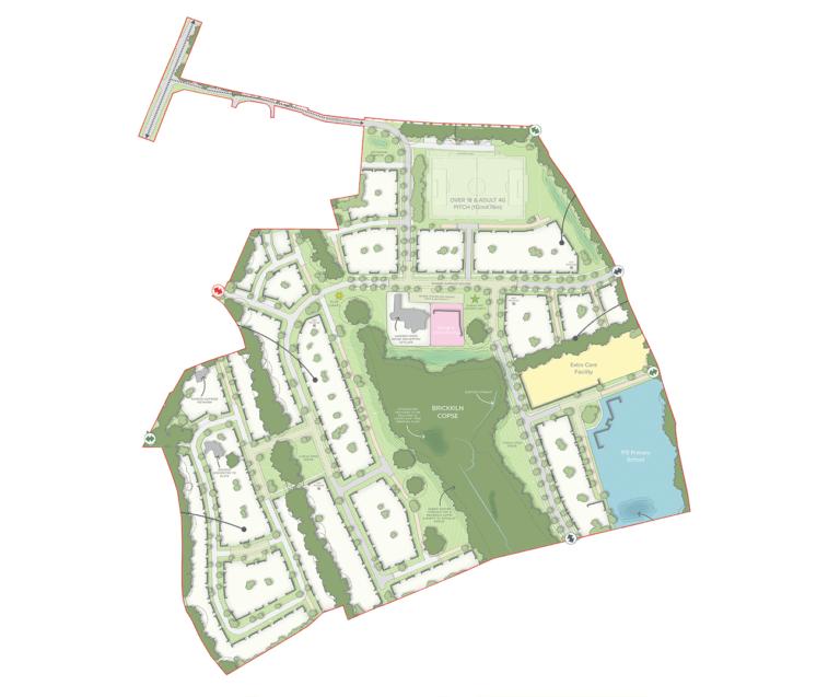Sandleford Park site plan