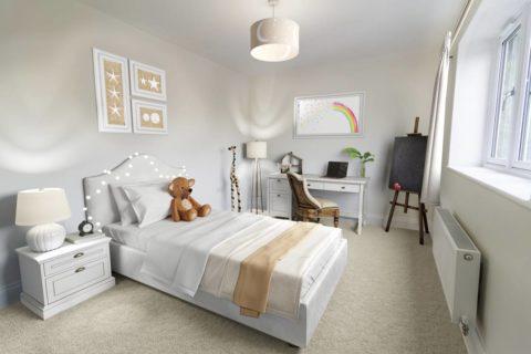 Bedroom 02 Kiln Gardens Donnington New Homes