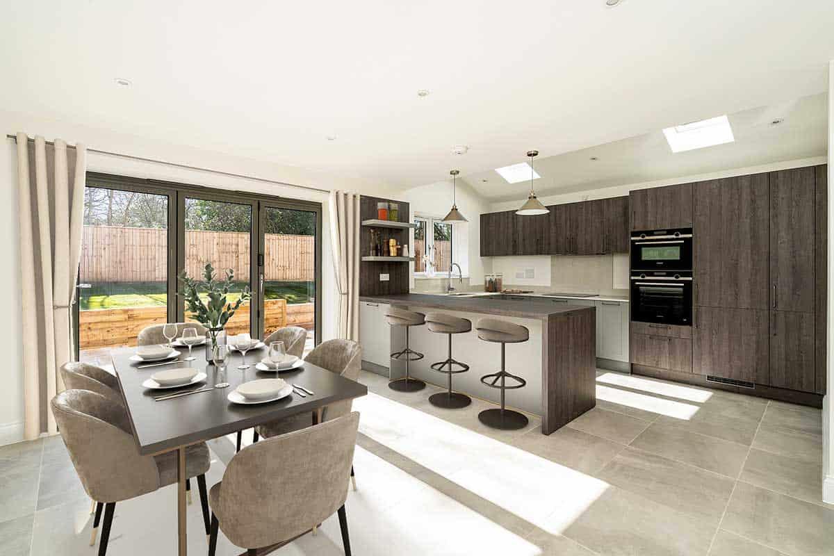 Open plan kitchen Donnington-New-Homes