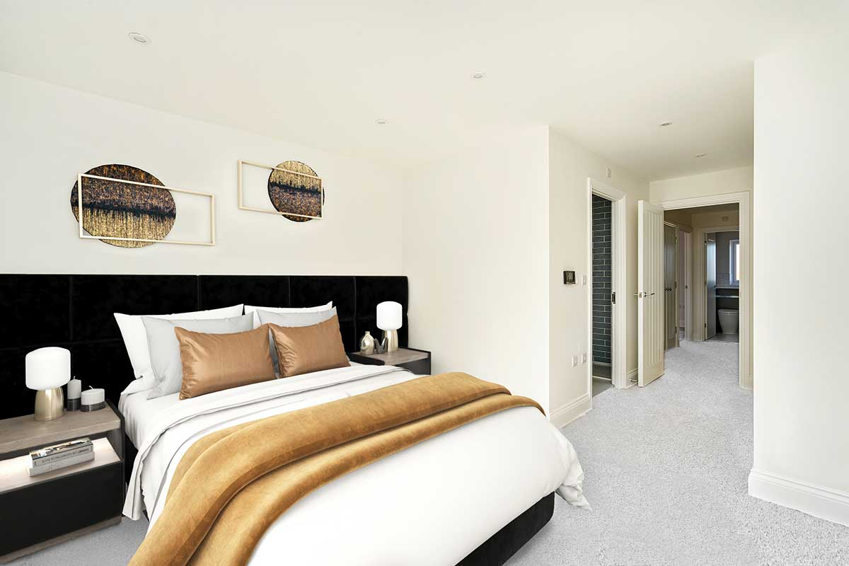 bedroom and ensuite Kiln Gardens Donnington New Homes