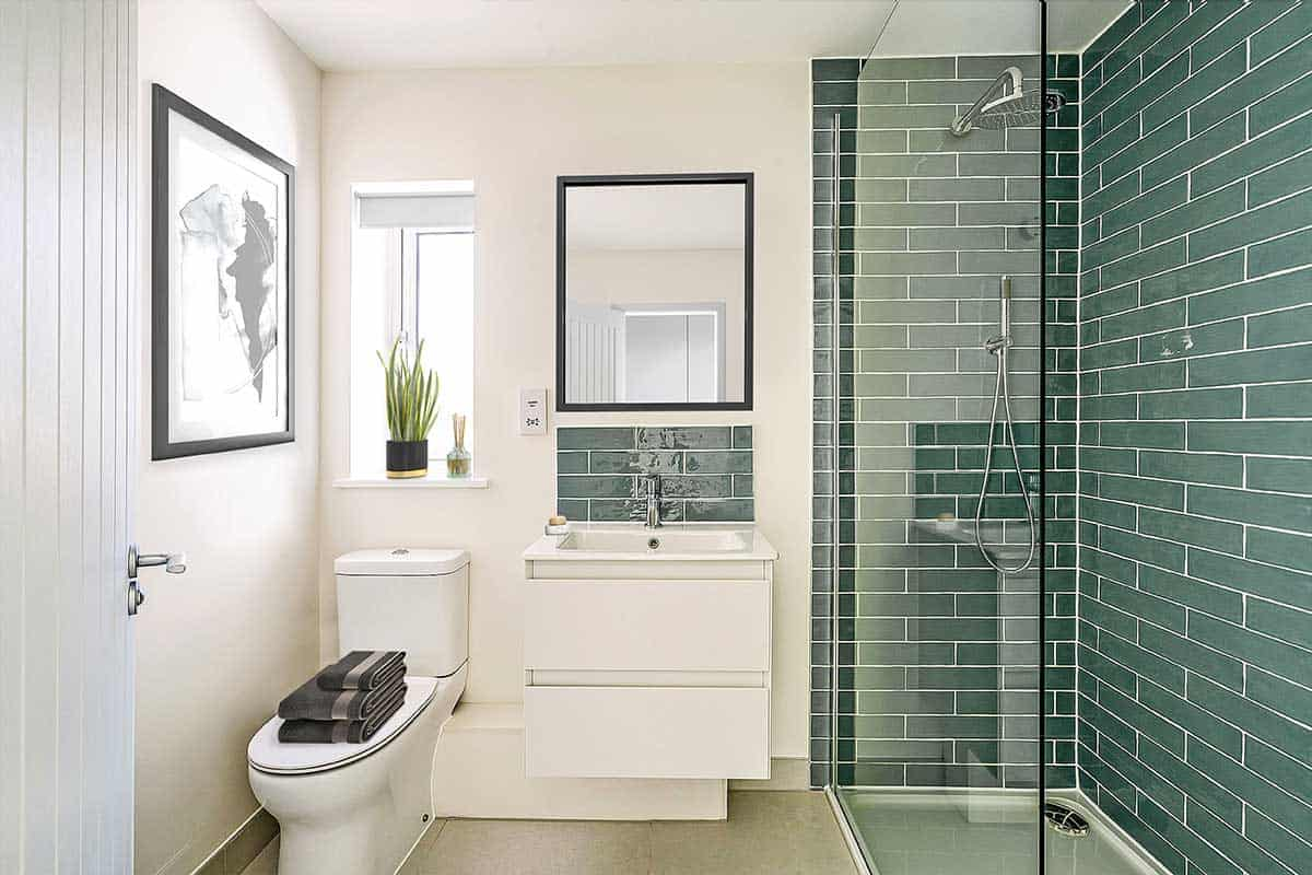 ensuite bathroom Kiln Gardens Donnington New Homes