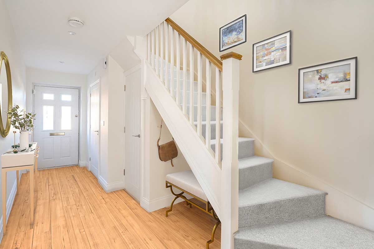 hall and stairs Kiln Gardens Donnington New Homes