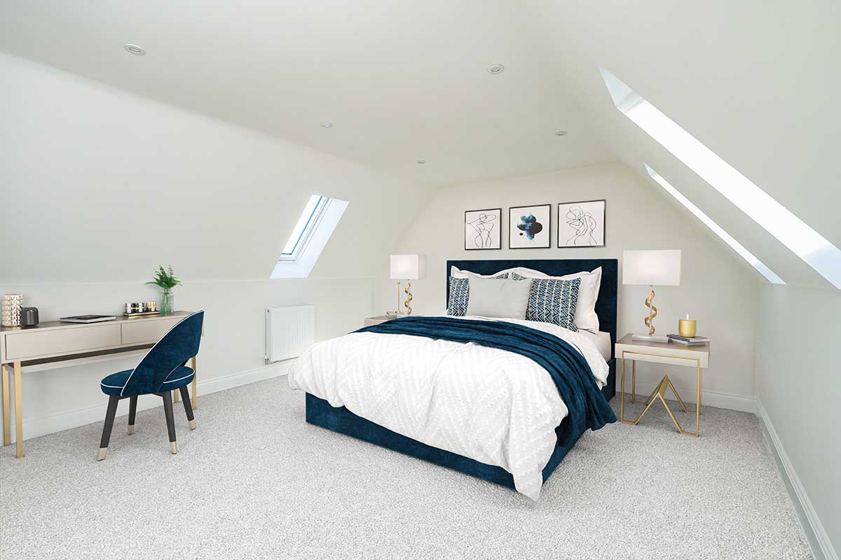 top floor bedroom Kiln Gardens Donnington New Homes
